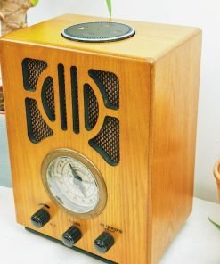 CLASSIC 1930'S STYLE MW-FM RADIO WITH AUX-IN AND VOICE ACTIVATION: WORKS WITH AMAZON 'ALEXA'