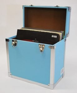 Steepletone SRB2 12 Inch LP Vinyl Record Storage Carry Case (Light Blue)