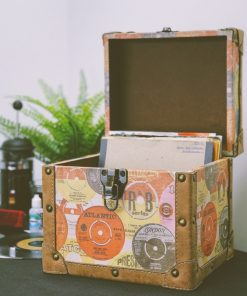 Steepletone SRB100-SRB2 COMBO Large Storage & Carry Case with Smaller LP Case Inside (Retro)