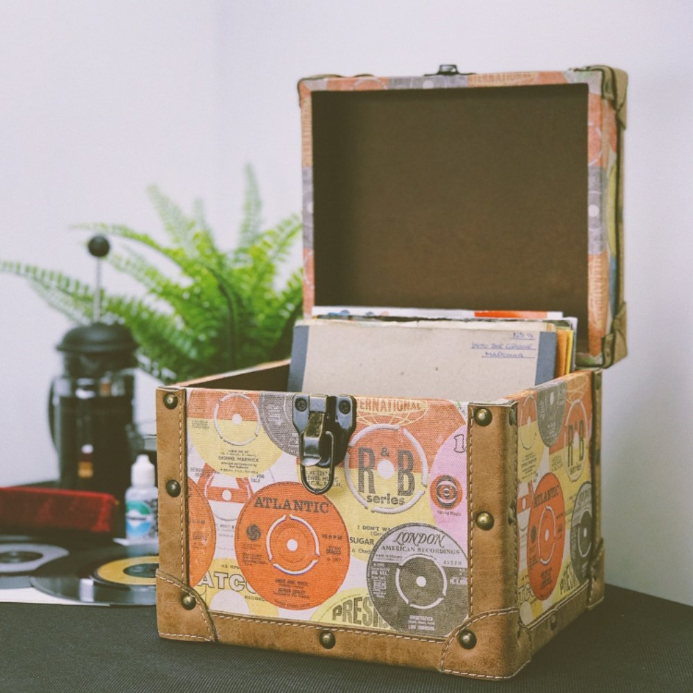 Steepletone SRB100-SRB2 COMBO Large Storage & Carry Case with Smaller LP Case Inside (Retro)