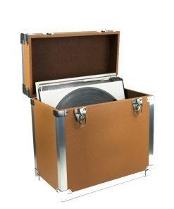 Steepletone SRB100-SRB2 COMBO Large Storage & Carry Case with Smaller LP Case Inside (Brown)