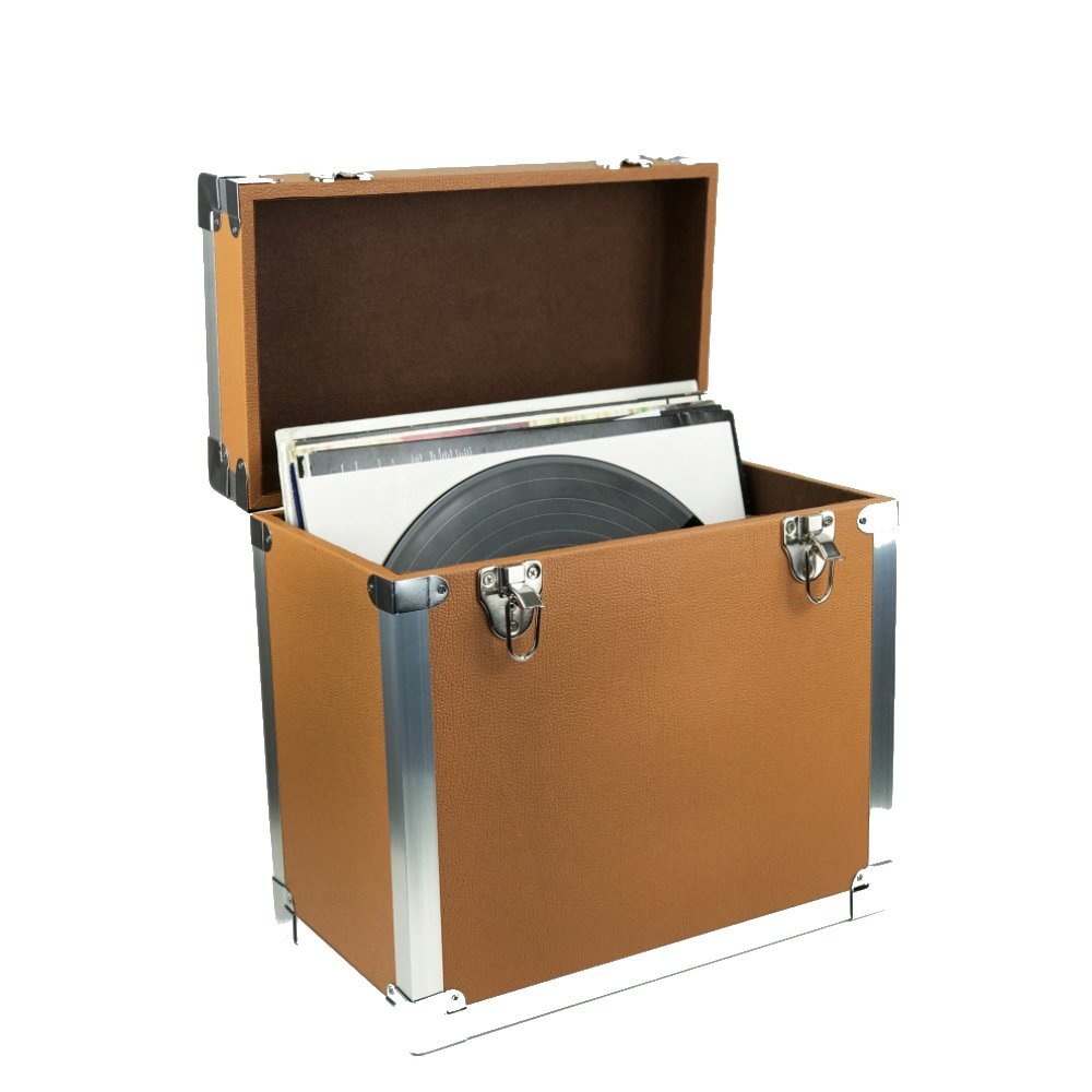 Steepletone SRB100-SRB2 COMBO Large Storage & Carry Case with Smaller LP Case Inside (Brown)
