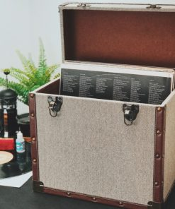 Steepletone SRB100-SRB2 COMBO Large Storage & Carry Case with Smaller LP Case Inside (Grey & Brown)