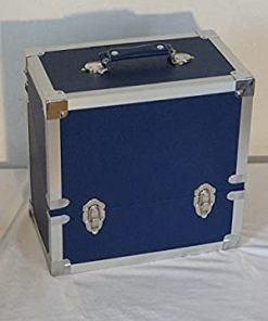 Steepletone SRB3M LP, Singles, CD's & Cassettes Storage and Carry Case (Blue)