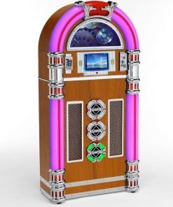 Steepletone Touch Rock MW 50 Jukebox with Wi-Fi CD and DVD/Video & Bluetooth Playback