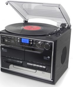 Steepletone SMC386 CBT PRO Compact Stand Alone 5-in-1 Music System with Bluetooth (Black)