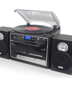 Steepletone SMC386 BT PRO 5-in-1 Music System with Bluetooth (Black)