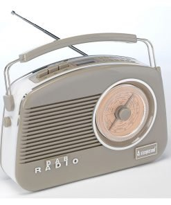 Steepletone Dorset Limited Edition Retro Styled MW-FM & DAB Radio (Mocha)