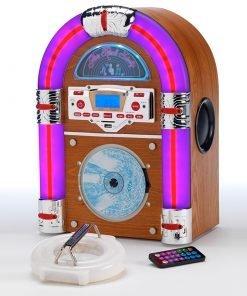 Steepletone Jive Rock Sixty Mini Jukebox with Bluetooth Radio CD MP3 & AUX – IN Playback