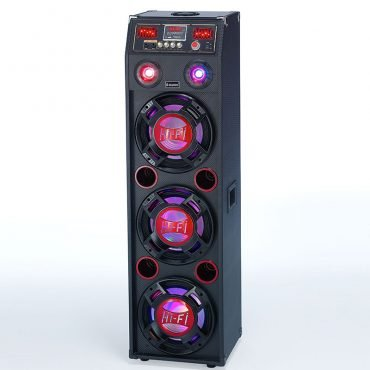 Steepletone SFB24002 Floor Box 3 Speaker Sound System with LED Laser Lights