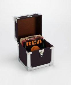 Steepletone SRB07SGL 7 Inch Vinyl Singles Retro Style Storage Carry Case (Black)