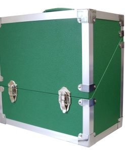 Steepletone SRB3M LP, Singles, CD's & Cassettes Storage and Carry Case (Green)