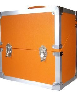 Steepletone SRB3M LP, Singles, CD's & Cassettes Storage and Carry Case (Orange)