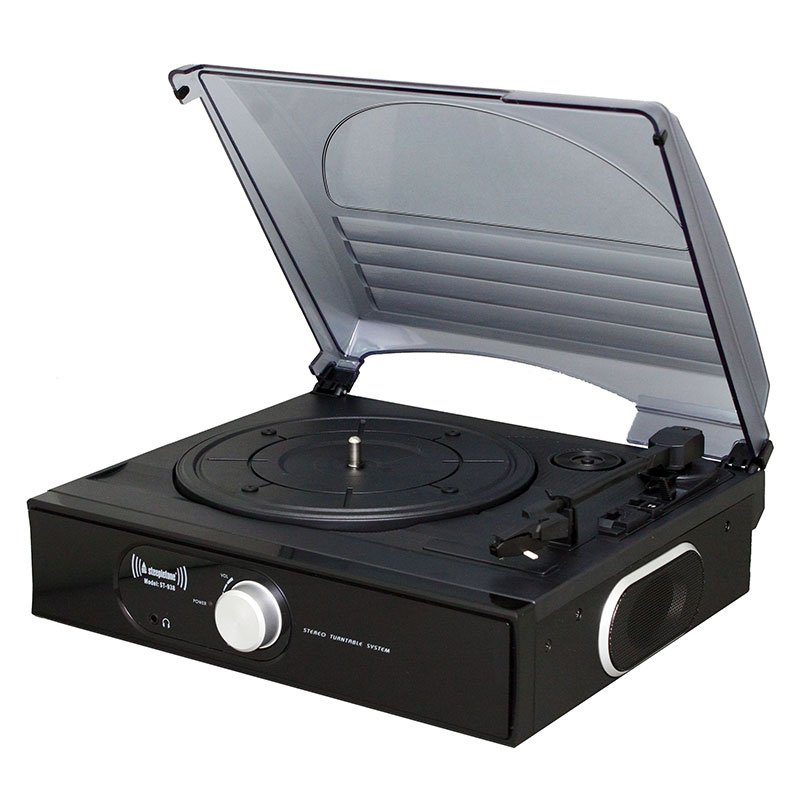 Steepletone ST938 3 – SPEED Record Player with Flip Over Stylus