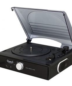 Steepletone ST938 BT 3 Speed Record Player with Bluetooh Streaming & AUX IN (Black)