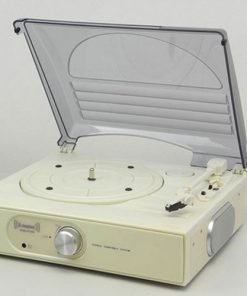 Steepletone ST938 BT 3 Speed Record Player with Bluetooh Streaming & AUX IN (Cream)