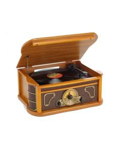 Steepletone Bromley 5 in 1 Music Centre with CD / Cassette & MP3 USB/SD Recording (Light Wood)