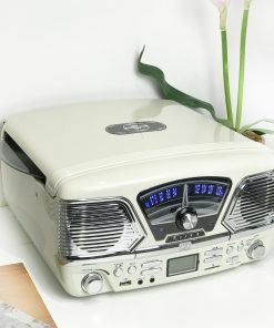 Steepletone Roxy 4 USB/CD Encode MP3 / FM Radio Record Player (Cream)