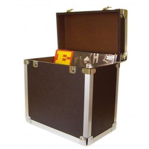 Steepletone SRB 2 12 Inch LP Vinyl Retro Style Record Storage Carry Case (Black)