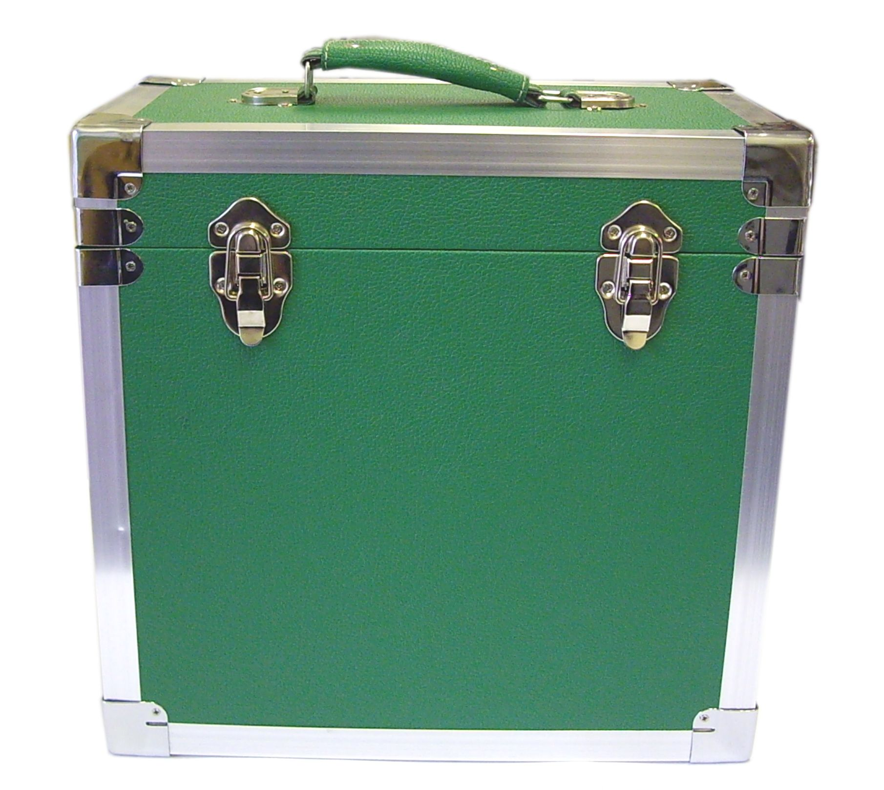 Steepletone SRB 2 12 Inch LP Vinyl Retro Style Record Storage Carry Case (Green)