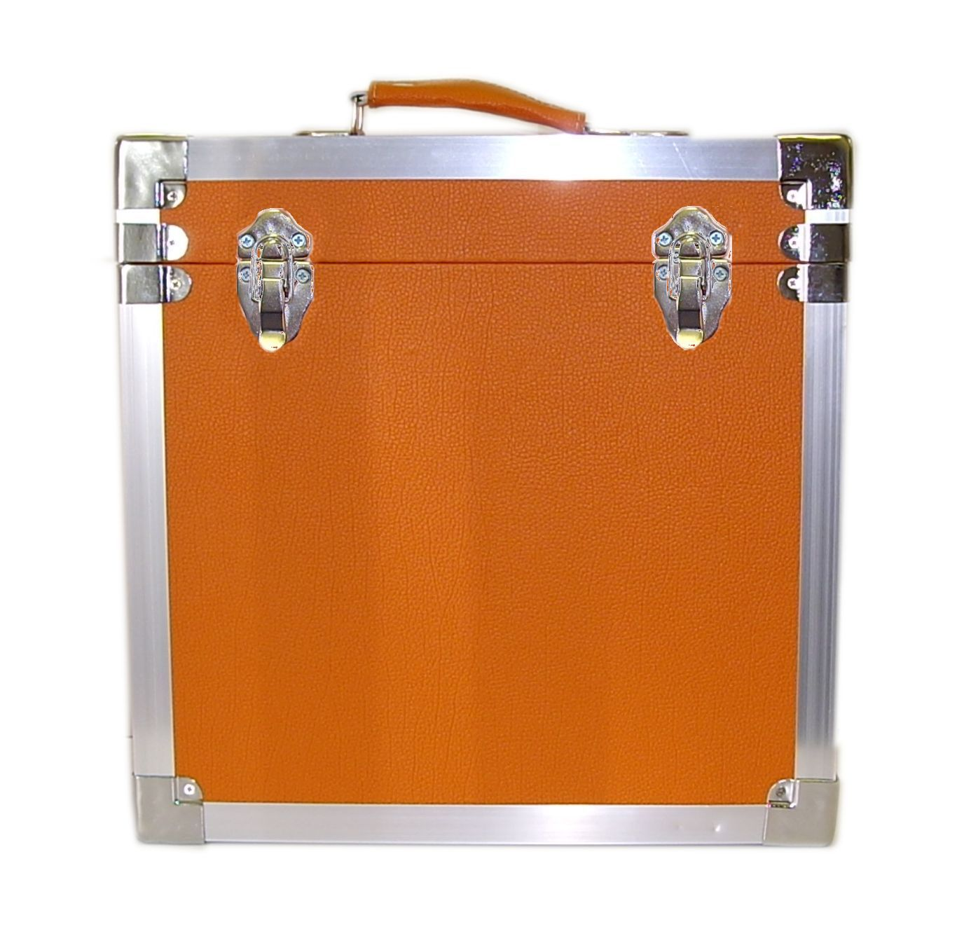 Steepletone SRB 2 12 Inch LP Vinyl Retro Style Record Storage Carry Case (Orange)