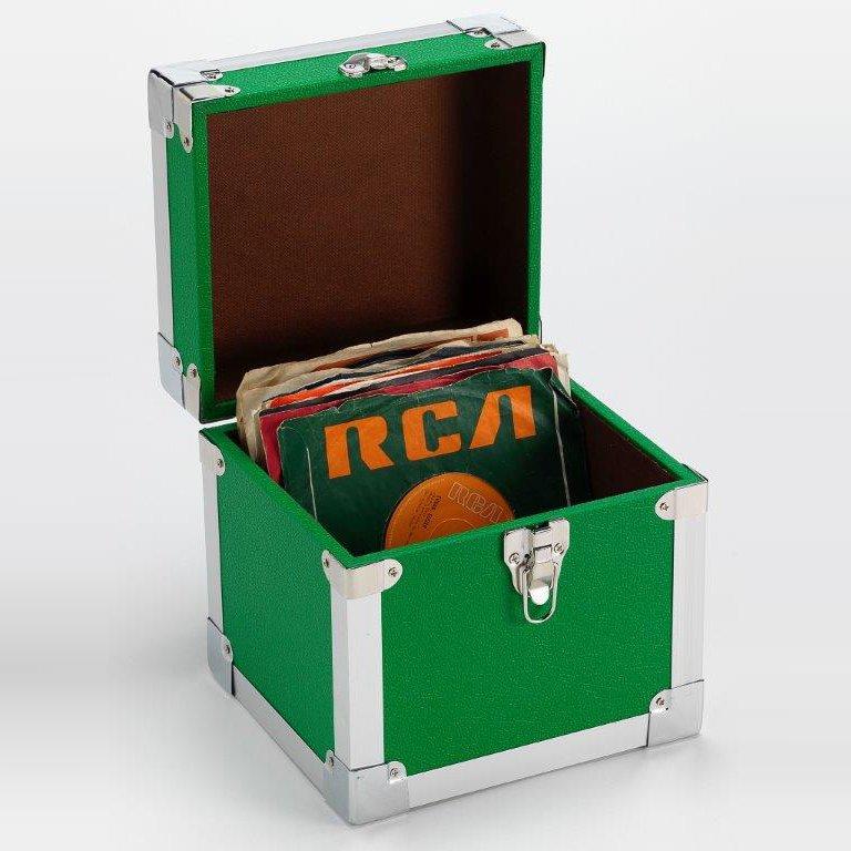 Steepletone SRB07SGL 7 Inch Vinyl Singles Retro Style Storage Carry Case (Green)