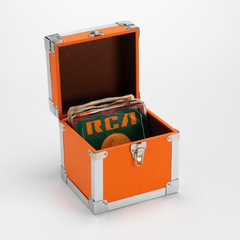 Steepletone SRB07SGL 7 Inch Vinyl Singles Retro Style Storage Carry Case (Orange)