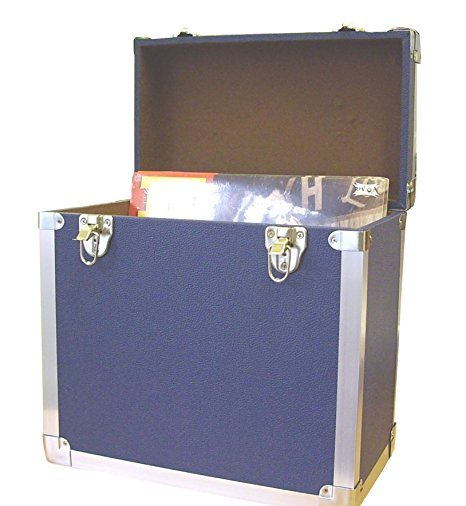 Steepletone SRB100-SRB2 COMBO Large Storage & Carry Case with Smaller LP Case Inside (Blue)