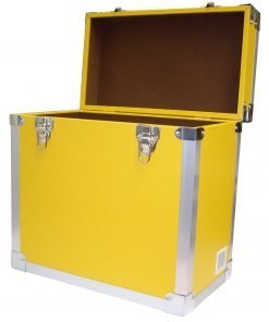 Steepletone SRB 2 12 Inch LP Vinyl Retro Style Record Storage Carry Case (Yellow)