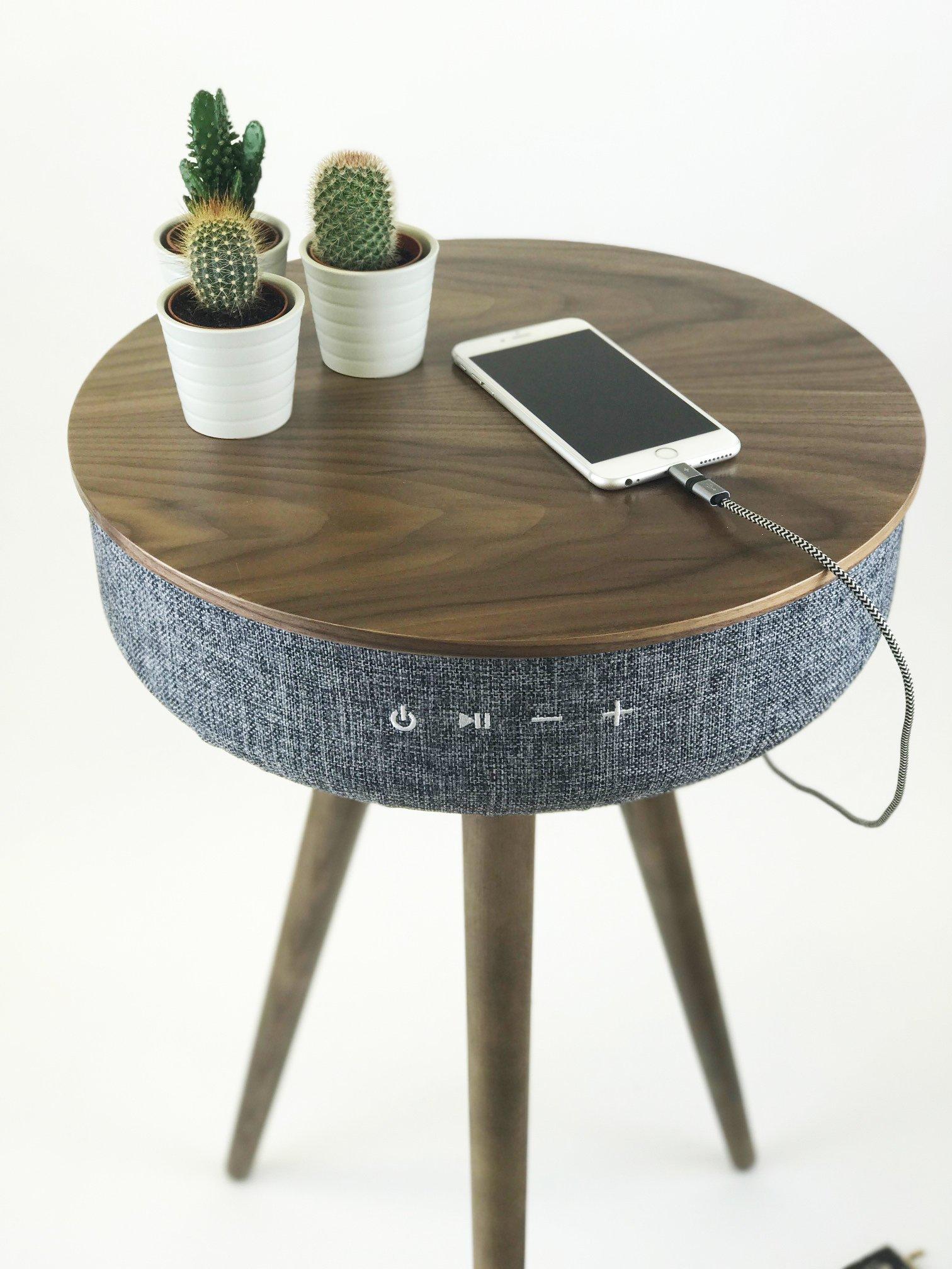 Steepletone TABBLUE 2.1 Bluetooth Sound System AUX Playback 2x USB Charging Sockets (Dark Wood)