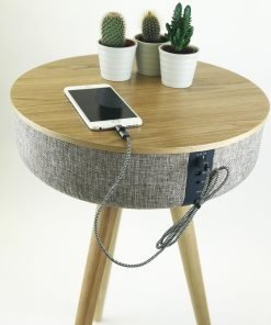 Steepletone TABBLUE 2.1 Bluetooth Music System AUX Playback 2x USB Charging Sockets (Light Wood)